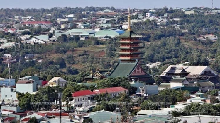 Chùa Minh Thành có tháp cao 9 tầng