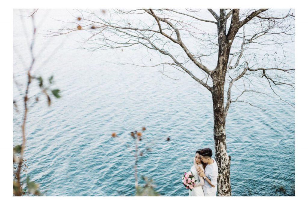 Ảnh cưới ngoại cảnh Gia Lai - một thoáng Hồ T'Nưng